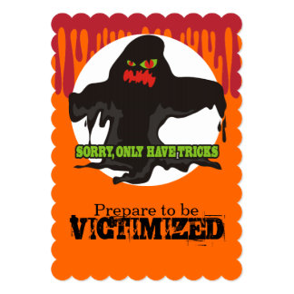 Funny muck sewer monster Halloween trick or treat 5x7 Paper Invitation Card