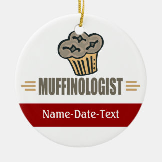 Funny Muffin Double-Sided Ceramic Round Christmas Ornament