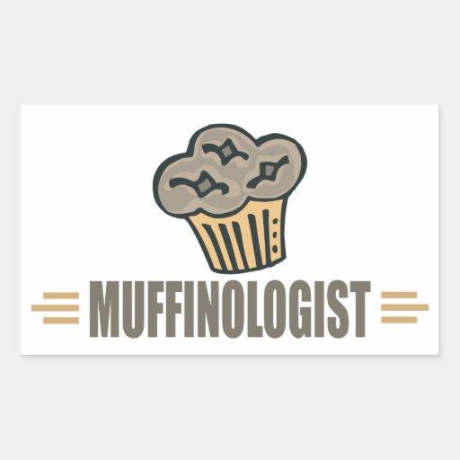 Funny Muffin Rectangular Sticker