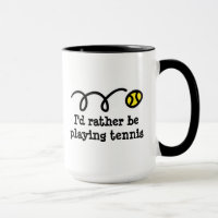 Funny mug for tennis player