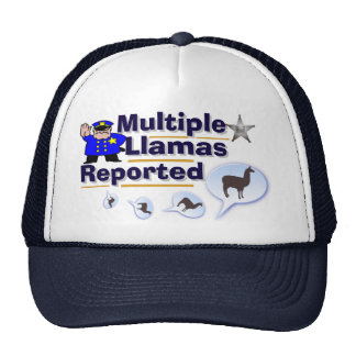 Funny Multiple Llamas Reported Hat
