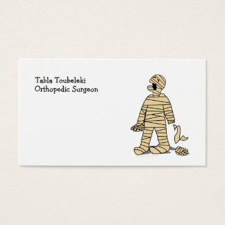 Funny Mummy Broken Hand Halloween Business Card