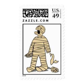 Funny Mummy Broken Hand Halloween Postage