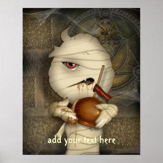 Funny Mummy Custom Halloween Poster