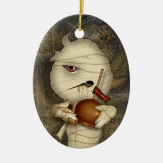 Funny Mummy Halloween Costume Ceramic Ornament