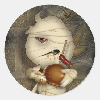 Funny Mummy Halloween Costume Classic Round Sticker