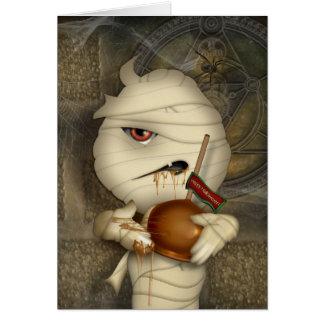 Funny Mummy Halloween Costume Greeting Card