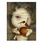 Funny Mummy Halloween Costume Post Card