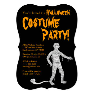 Funny Mummy Halloween Party Invitation