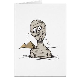 funny mummy popping out greeting card