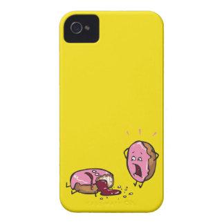 Funny Murdered Doughnut Cartoon Case-Mate iPhone 4 Cases