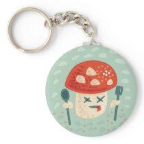 Funny Mushroom Character Poisoned Keychain