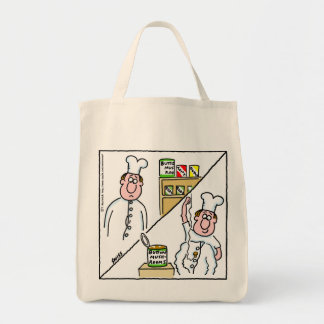 Funny Mushroom Cook Grocery Tote Bag