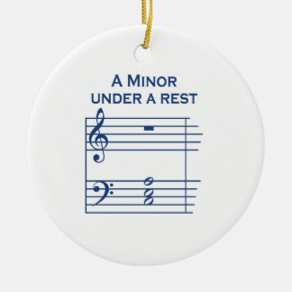 Funny Music A Minor Ceramic Ornament
