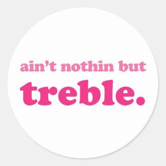 Funny Music Joke Round Sticker
