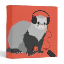 Funny Music Lover Ferret Binder