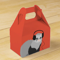 Funny Music Lover Ferret Favor Box