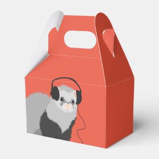 Funny Music Lover Ferret Favor Box