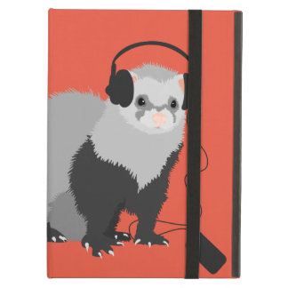 Funny Music Lover Ferret Folio Cover For iPad Air