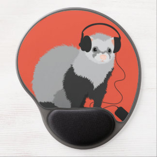 Funny Music Lover Ferret Gel Mouse Pad