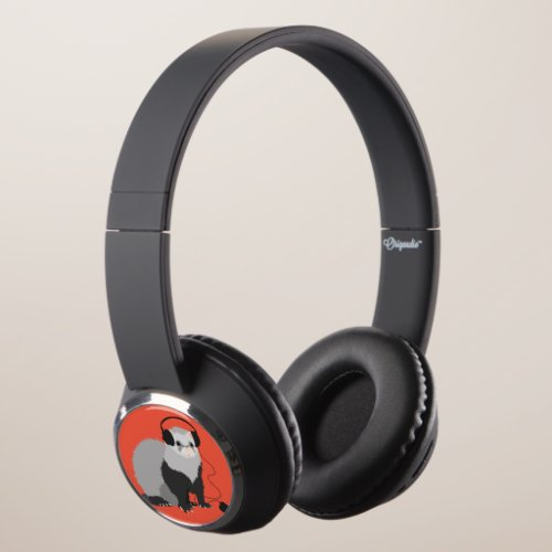 Funny Music Lover Ferret Headphones