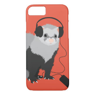 Funny Music Lover Ferret iPhone 7 Case