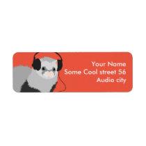 Funny Music Lover Ferret Label