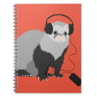 Funny Music Lover Ferret Notebook