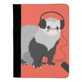Funny Music Lover Ferret Padfolio