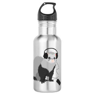 Funny Music Lover Ferret Stainless Steel Water Bottle