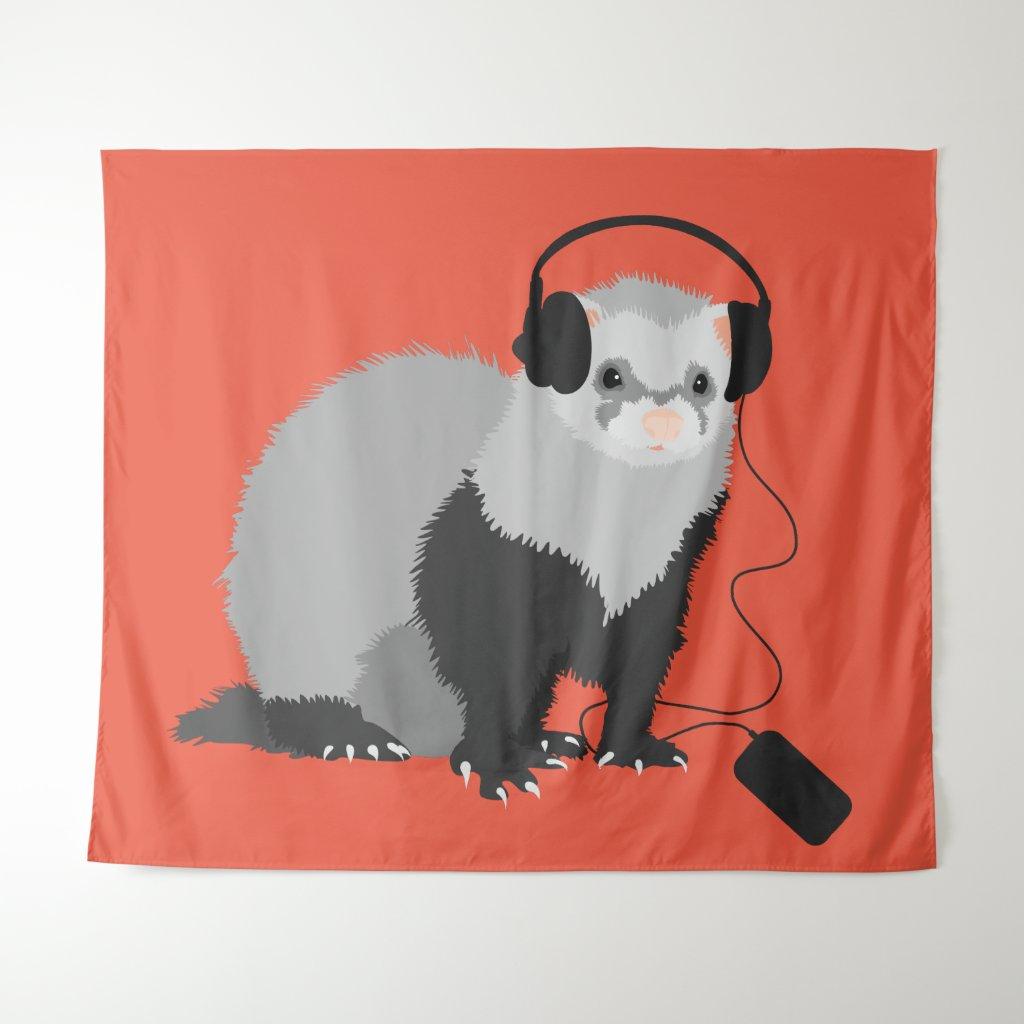 Funny Music Lover Ferret