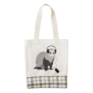 Funny Music Lover Ferret Zazzle HEART Tote Bag