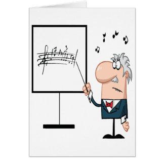 funny music professor teacher cartoon card