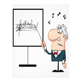 funny music professor teacher cartoon flyer