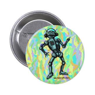 Funny music robot button design