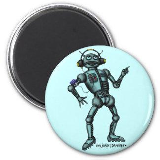 Funny music robot magnet design
