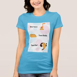 Funny Music Taco Pun Shirt: Sta-taco & Taco Clef T-Shirt