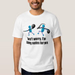 Funny music, taking notes shirts