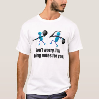 Funny Music, Taking Notes T-shirt at Zazzle
