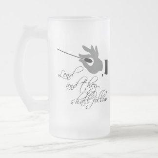 Funny Music Teacher Gift Frosted Glass Beer Mug