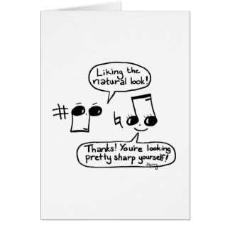 Funny Musical Compliments Cartoon: Version II Card