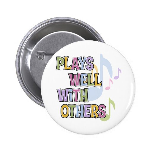 Funny Musician Gift Pinback Button