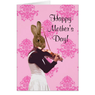 Funny musician  mothers day card