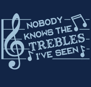 375b0125d Funny Musicians Treble Joke Pun | Music Teachers 2 T-Shirt