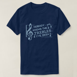 Funny Musicians Treble Joke Pun | Music Teachers 2 T-shirt at Zazzle