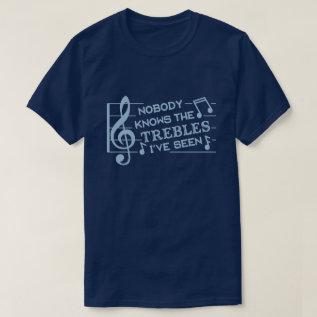Funny Musicians Treble Joke Pun | Music Teachers 2 T-shirt at Zazzle
