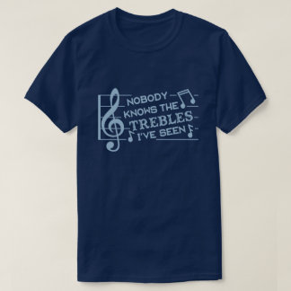 Funny Musicians Treble Joke Pun | Music Teachers 2 T-Shirt