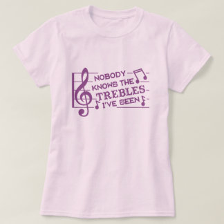 Funny Musicians Treble Joke Pun | Music Teachers 4 T-Shirt