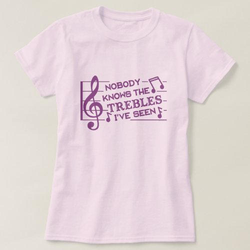 Funny Musicians Treble Joke Pun  Music Teachers 4 T_Shirt