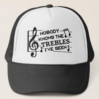 Funny Musicians Treble Joke Pun | Music Teachers Trucker Hat